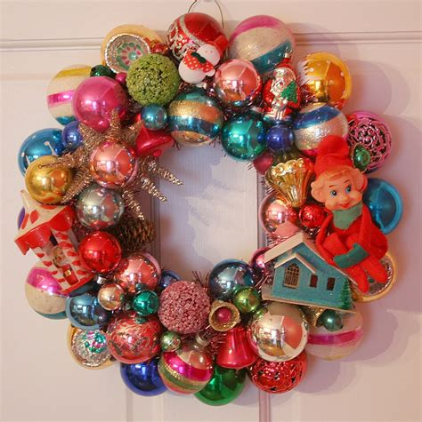 vintage christmas decorations oh by the way retro wreaths