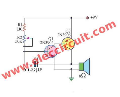 Diy Electronic Projects 3 simple metronome circuits using transistors electronic