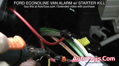security system 2003 ford e350 navigation system ford van alarm system with starter kill econoline e van avital youtube