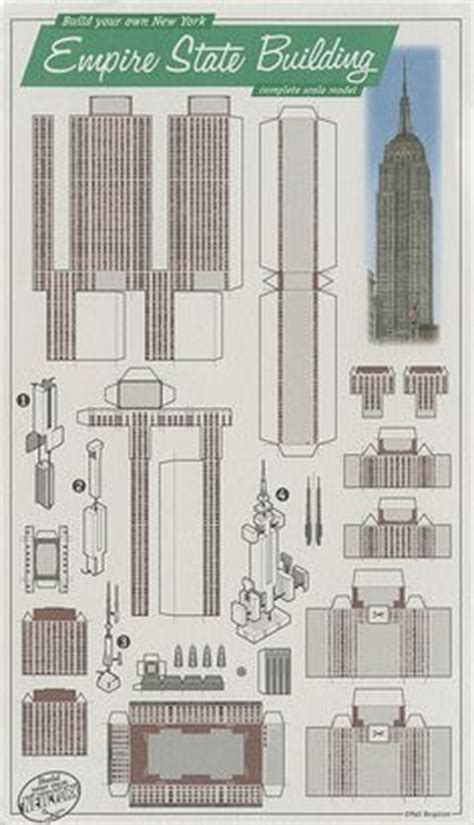 How To Make 3d Buildings Out Of Paper - empire state building paper model free paper toys and