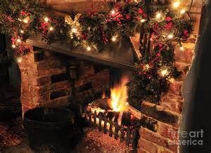 christmas fireplace by andy smy