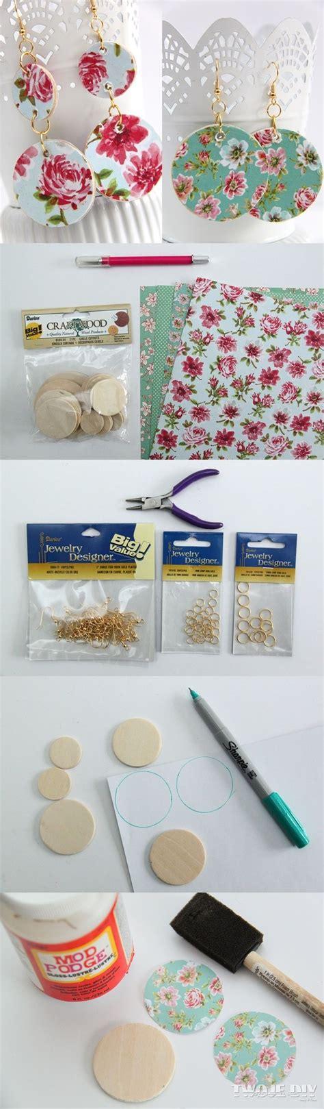 Diy Decoupage - diy jewelry kolczyki decoupage diypick your daily