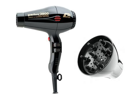 Parlux Hair Dryer Ebay parlux 3800 black compact ceramic ionic hair dryer and parlux 3800 diffuser 744904584951 ebay