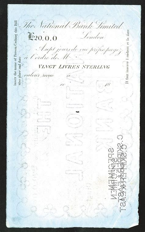 National Bank Letter Of Credit national bank limited ca 1860 80 s specimen letter of credit