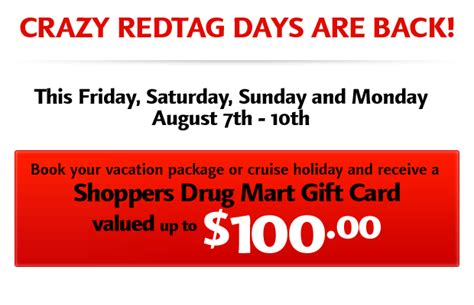Canadian Tire Gift Card Customer Service - crazy red tag days 100 50 canadian tire gift cards cheap vacations on sale