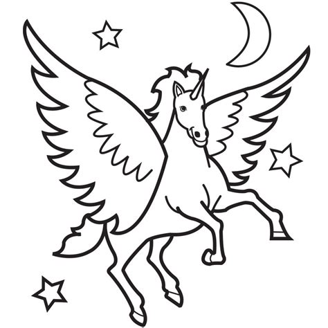 coloring pages of flying horse desenhos de unic 243 rnios para imprimir e colorir animais