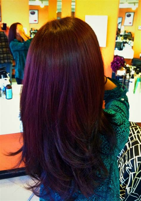 chocolate plum hair color autumn hair color i love the new plum brown trend for