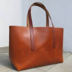 leather bag another sewn leather tote bag be cause style travel collecting and food