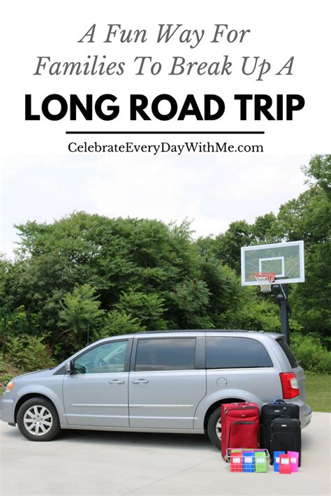 how to make a long road trip more comfortable a fun way for families to break up a long road trip