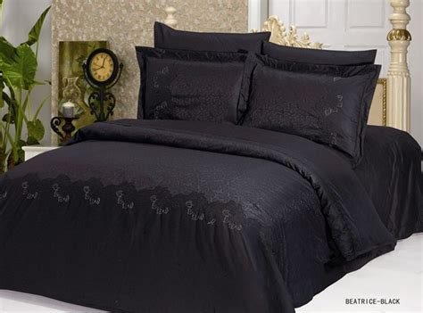 punk comforter gothic duvet cover beatrice black jacquard duvet set by