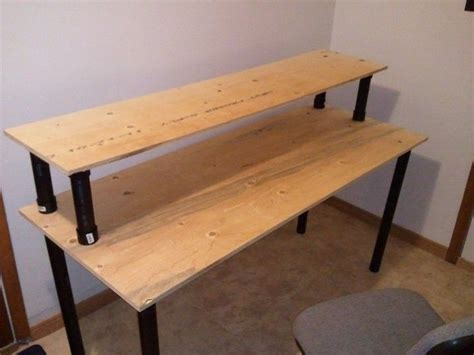 easy plywood projects lights onoff shots   desk