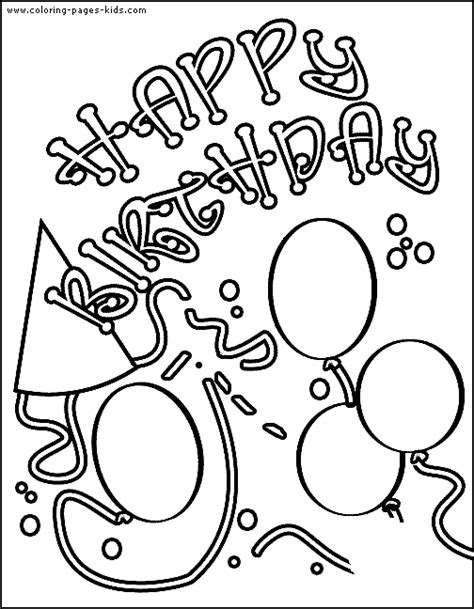 printable birthday cards in color printable birthday cards to color