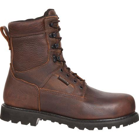 rocky exertion 8 quot waterproof steel toe s work boots
