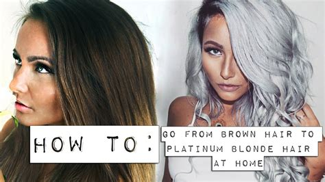 how to go from brown hair to platinum at home doovi