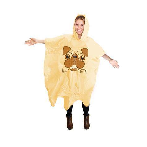 fancy dress pug new pug poncho waterproof festival novelty fancy dress mac one size