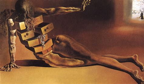 Dali With Drawers by The Anthropomorphic Cabinet 1936 By Salvador Dali