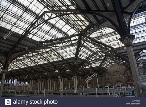liverpool station roof glass roof structure liverpool stock photos glass