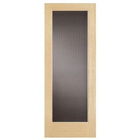 Steves And Sons Interior Doors Steves Sons 30 In X 80 In Modern Lite Solid Pine Reed Glass Interior Door Slab