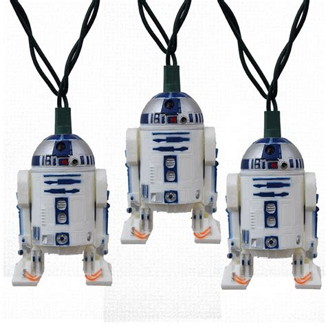 wars r2d2 novelty string lights