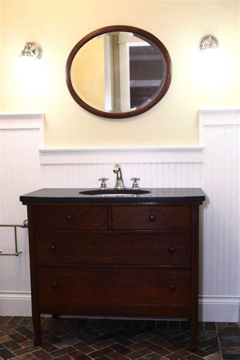 this oak dresser from the 1920s was refinished and