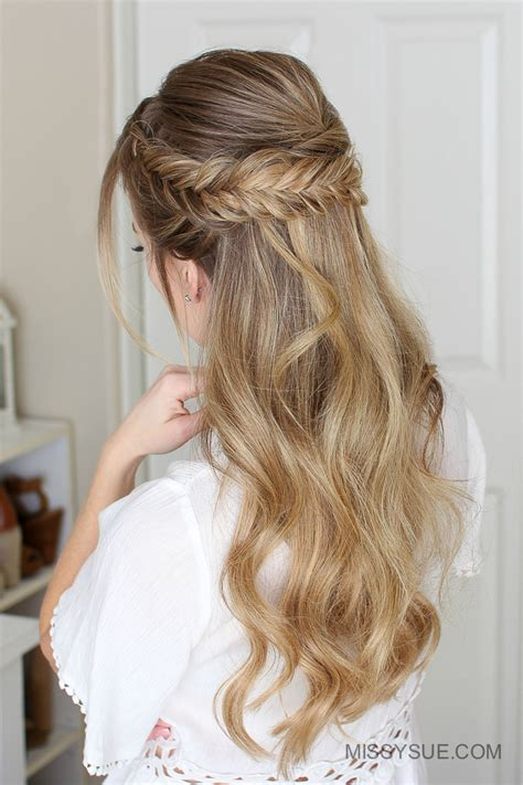 Prom Hairstyles For Hair Half Up Half by Easy Half Up Prom Hair Fsetyt
