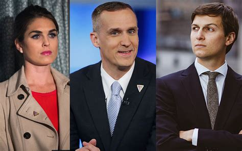 hope hicks lewandowski hope hicks corey lewandowski and jared kushner