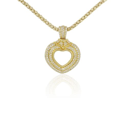 18k yellow gold pendant on 14k chain necklace