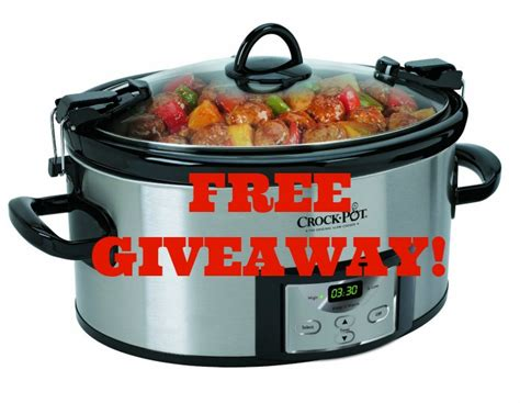 Win A Programmable Crock Pot Cooker by Free Giveaway Enter To Win A Crock Pot Cook