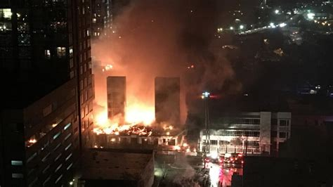 Raleigh Fireplace by In Downtown Raleigh Engulfs Jones
