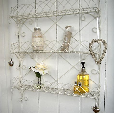 white wire wall rack shelf bliss and bloom ltd