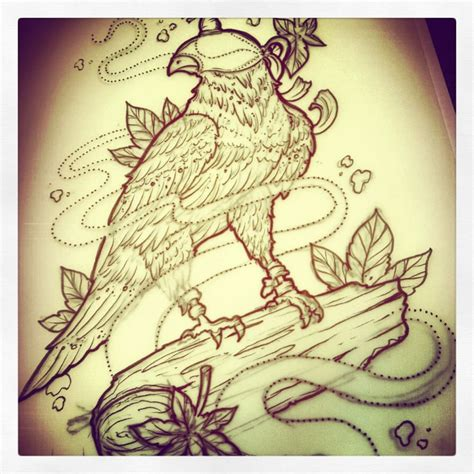 hood tattoo designs falcon with designs