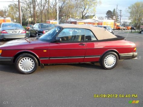 saab convertible red 1993 ruby red pearl metallic saab 900 s convertible