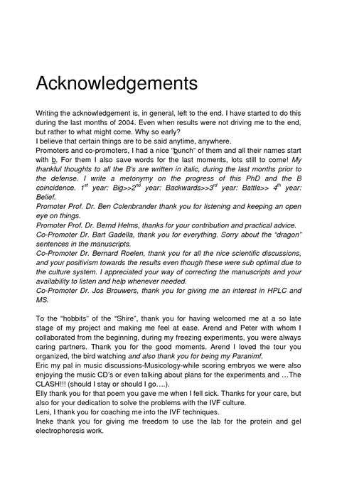 phd thesis acknowledgement template acknowledgement for phd thesis 187 original content