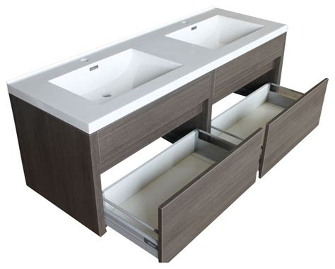Sink Wall Mounted Vanity by 59 5 Quot Kiruma Wall Mounted Sink Vanity With Acrylic