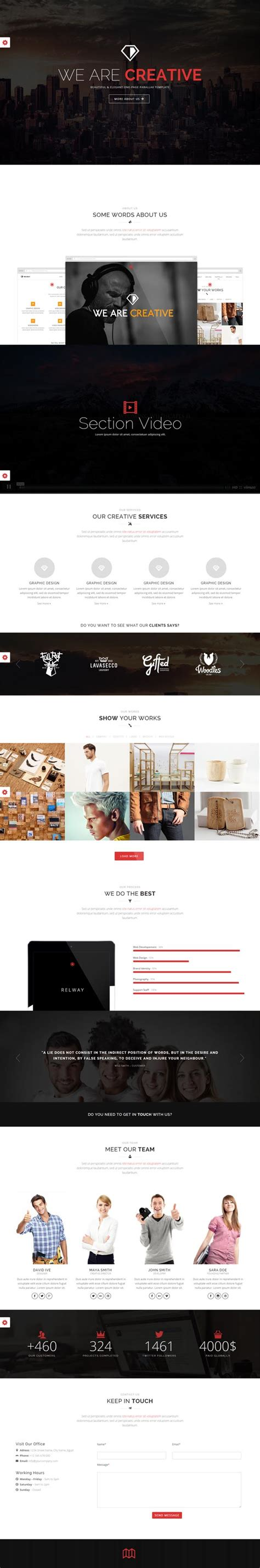 theme wordpress one page responsive relway responsive parallax one page wp theme wordpress