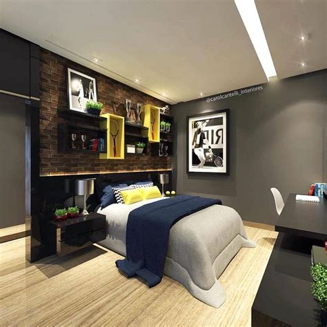 desain gambar kamar tidur cowok