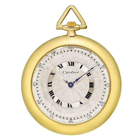 cartier yellow gold manual wind pocket at 1stdibs