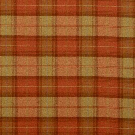plaid fabric woodford plaid fabric burnt orange dhigwp308