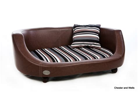 leather dog beds chester wells oxford ll leather dog bed black chestnut