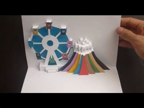 wheels pop up card template ferris wheel pop up card tutorial origamic architecture