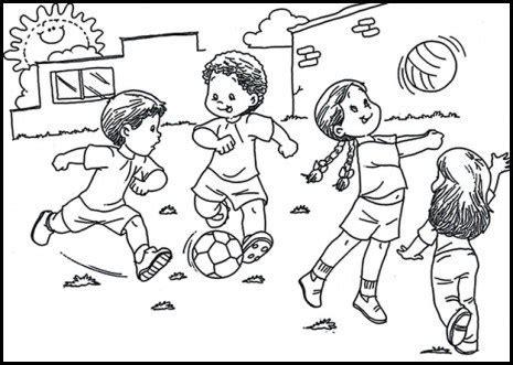 imagenes de niños jugando en un columpio para colorear dibujos con ni 241 os jugando para colorear dibujos y