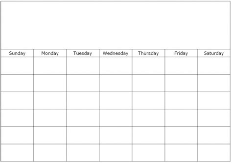 Calendar Template To Type In monthly calendar to print and fill out calendar