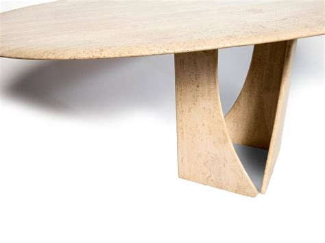 oval travertine dining table for sale at 1stdibs