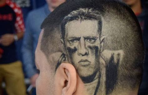 look this texans fan shaved j j watt s face into his