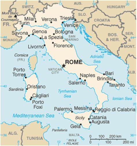 political map of rome world history