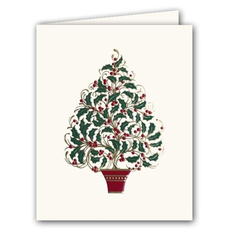 Caspari Boxed Cards - tree embossed boxed cards paperstyle