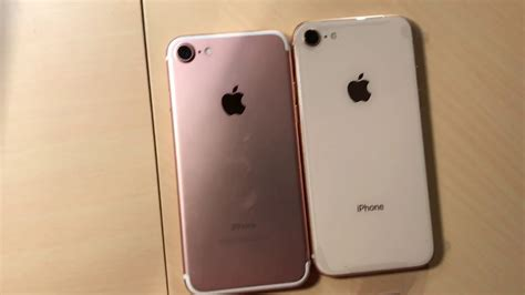 iphone  gold unboxing comparison  rose gold color youtube