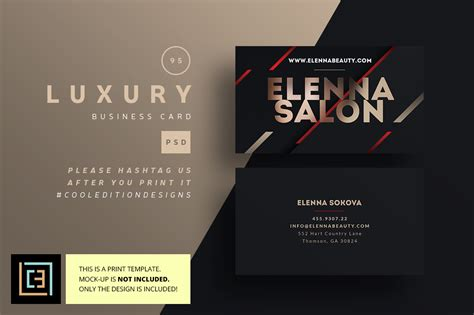Luxury Business Card 95 Business Card Templates On Creative Market Luxury Business Card Template