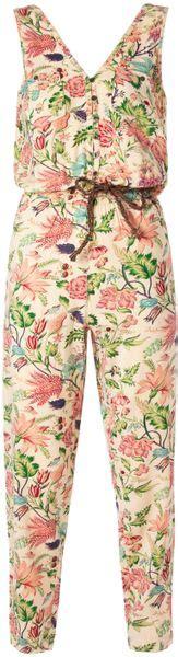 Jsjt217120770144 Jumpsuit Zara Jumpsuit Floral Beige hilfiger gabrielle sleeveless jumpsuit in floral