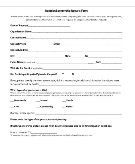 waset template sle sponsorship request form 9 exles in word pdf